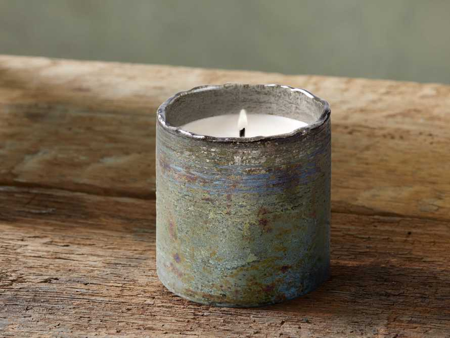Evergreen Mercury Glass Candle, slide 1 of 3