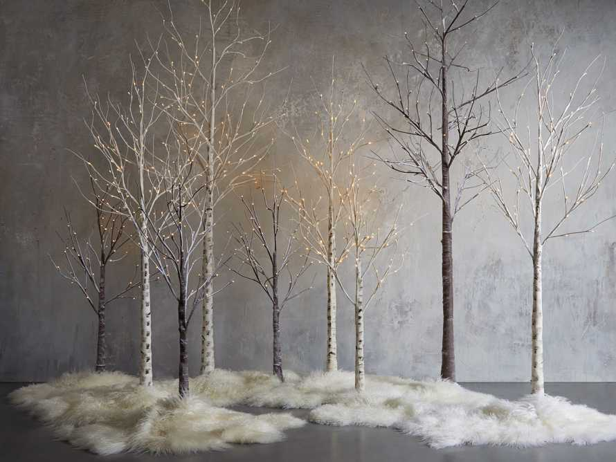 Aurora 4' Lighted Birch Tree, slide 4 of 4