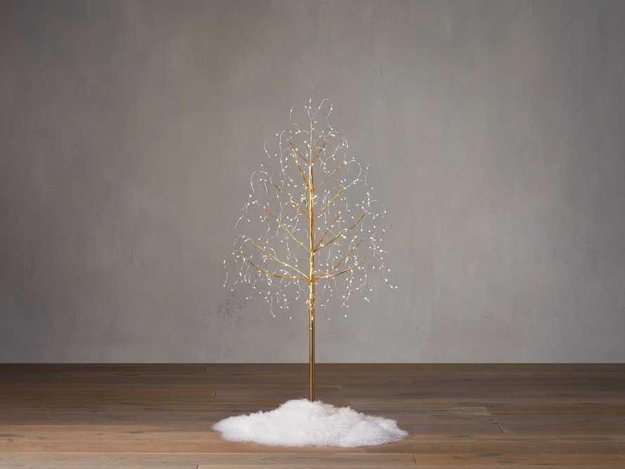 4' Gold Microlight Tree, slide 1 of 3