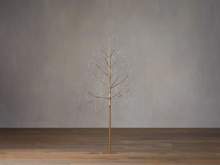 4' Gold Microlight Tree, slide 2 of 3