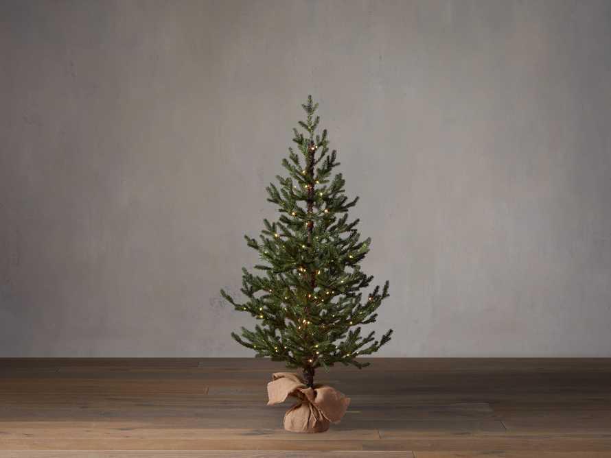 4' Pre-Lit Burlap Pine Tree, slide 1 of 4