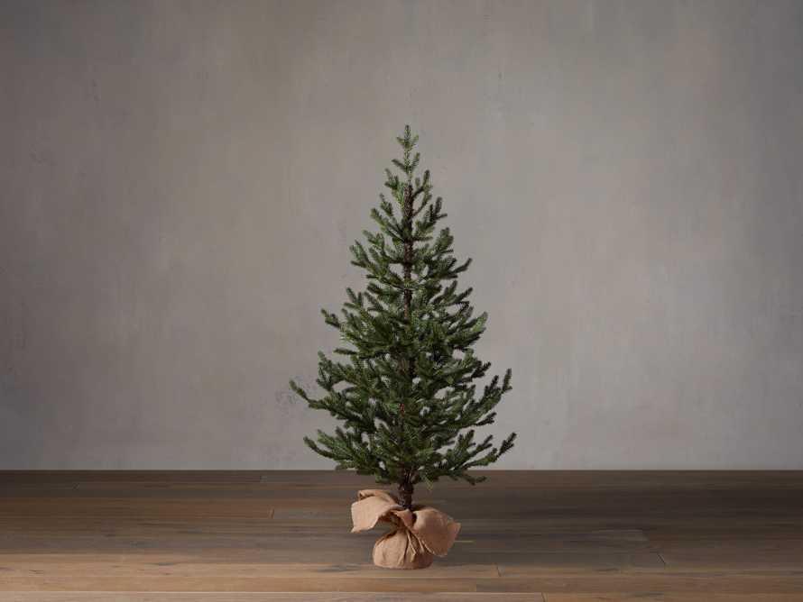 4' Pre-Lit Burlap Pine Tree, slide 2 of 4