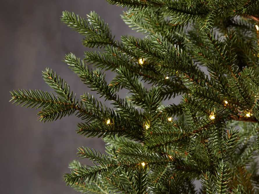 4' Pre-Lit Burlap Pine Tree, slide 3 of 4
