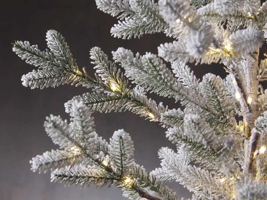 2' Pre-Lit Flocked  Burlap Pine Tree, slide 3 of 4