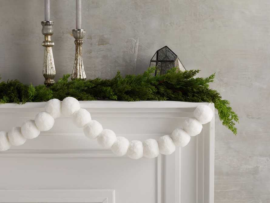Faux Snowball Garland, slide 1 of 2
