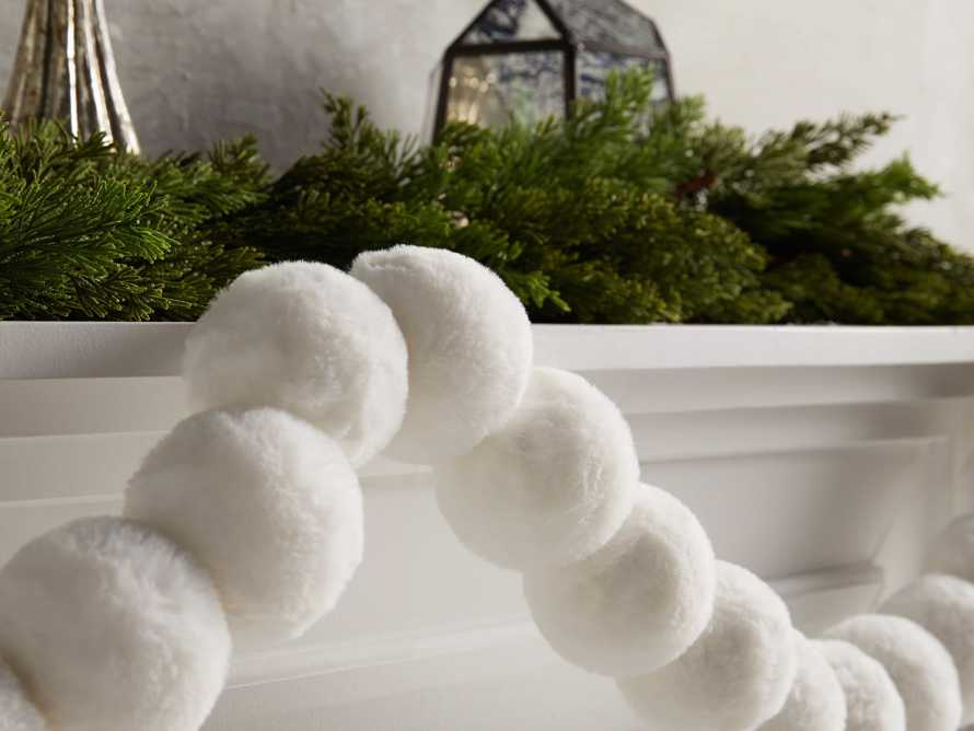 Faux Snowball Garland, slide 2 of 2