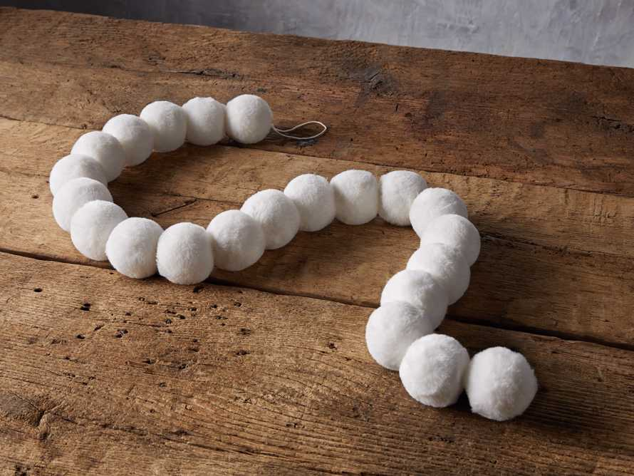 Faux Snowball Garland, slide 1 of 4