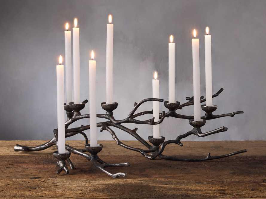 9 Light Branch Candleholder in Antiqued Silver, slide 1 of 1