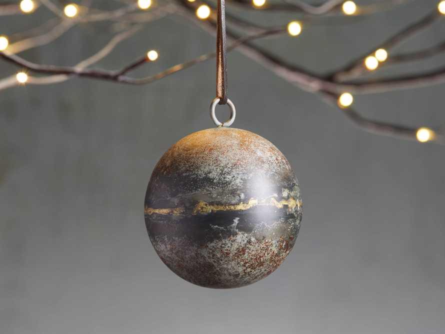 Distresse Metal Ornament in Grey (Set of 4), slide 1 of 2