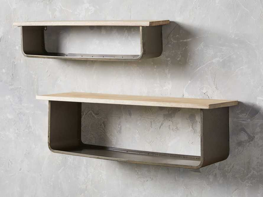 Metal and Wood Shelves (set of 2), slide 1 of 3