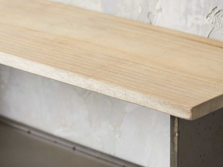 Metal and Wood Shelves (set of 2)