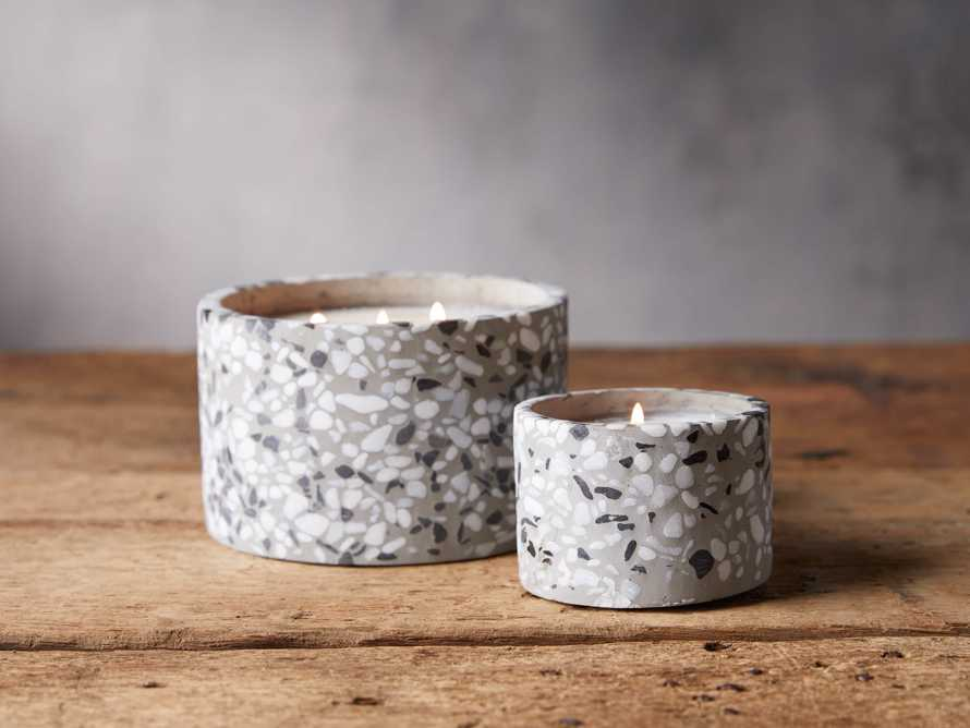 Large Terrazzo Candle in Grapefruit, slide 2 of 2