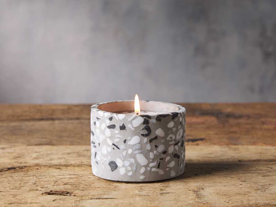 Large Terrazzo Candle in Grapefruit, slide 1 of 2