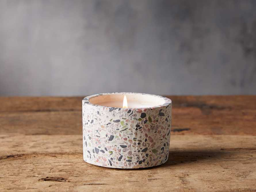 Small Terrazzo Candle in Grapefruit, slide 1 of 2