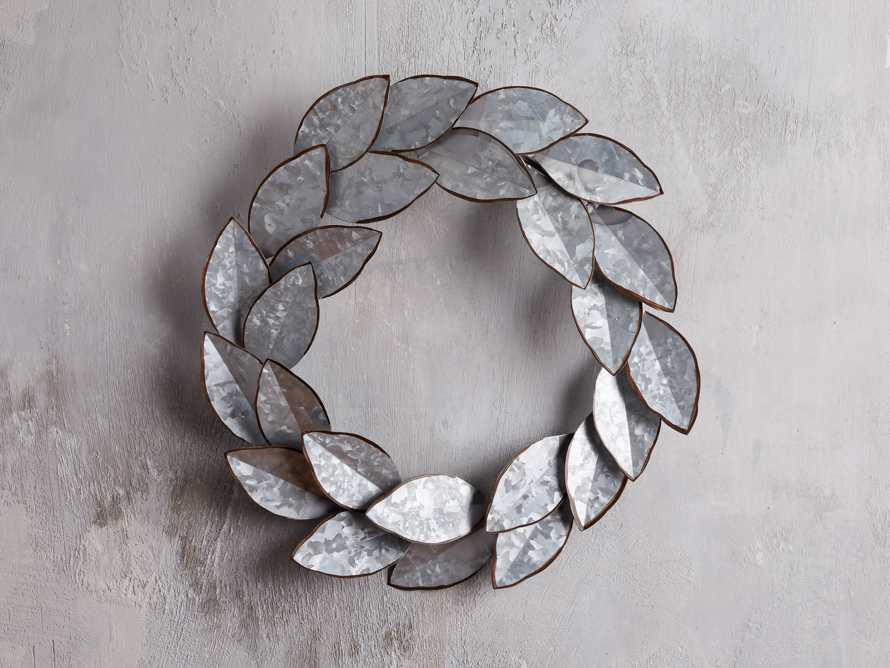 Magnolia Metal Wreath, slide 1 of 4