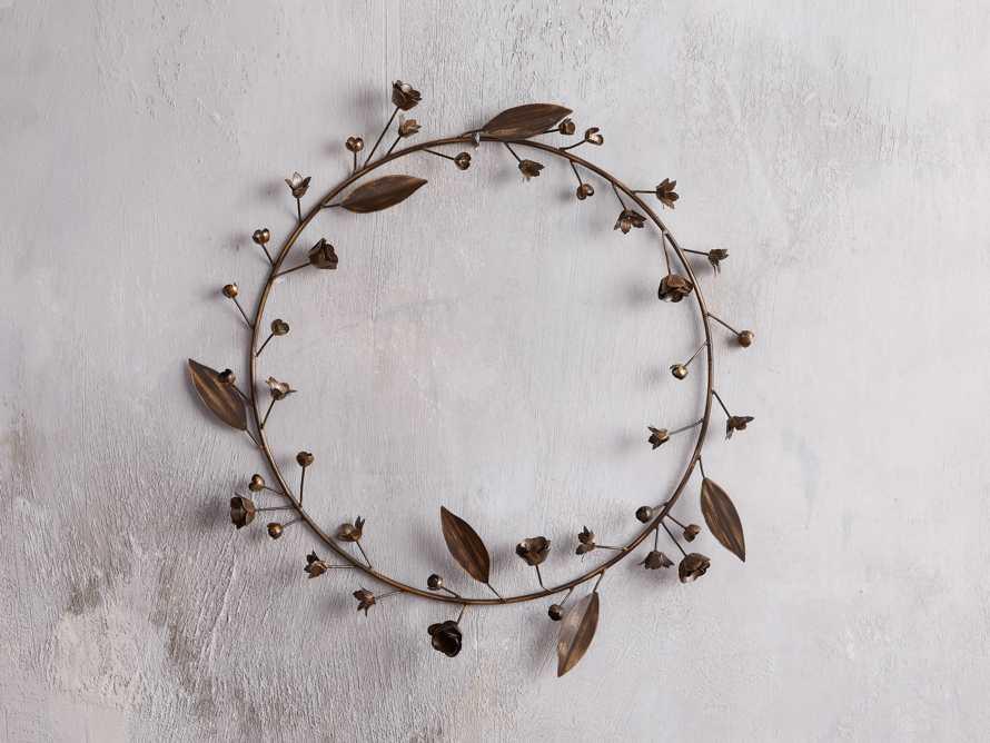 Winter's Bloom Metal Wreath, slide 1 of 4