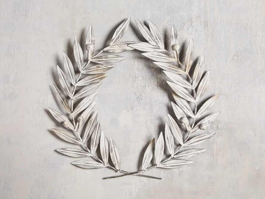 Laurel Metal Wreath in Aged Iron, slide 1 of 4