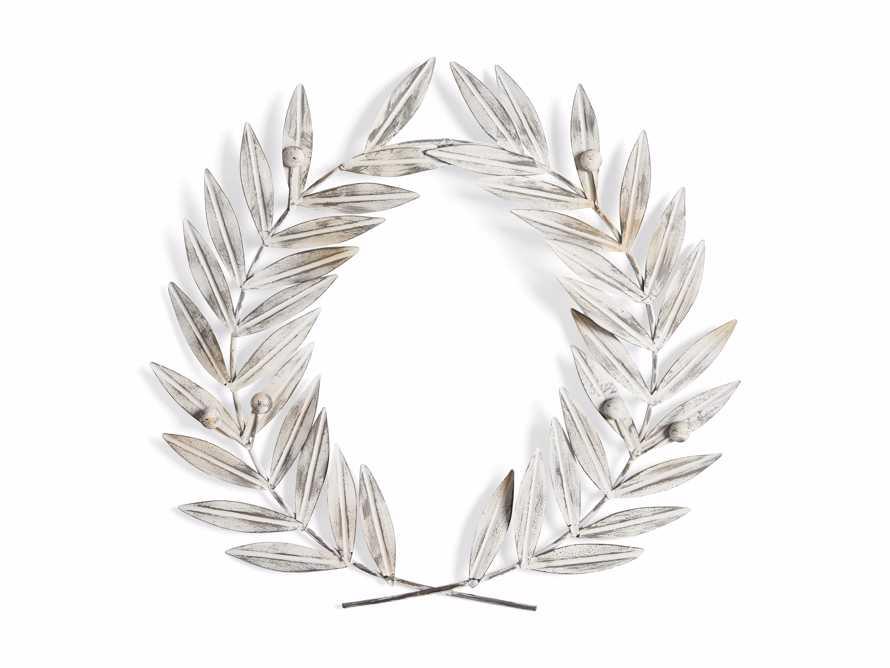 Laurel Metal Wreath in Aged Iron, slide 4 of 4