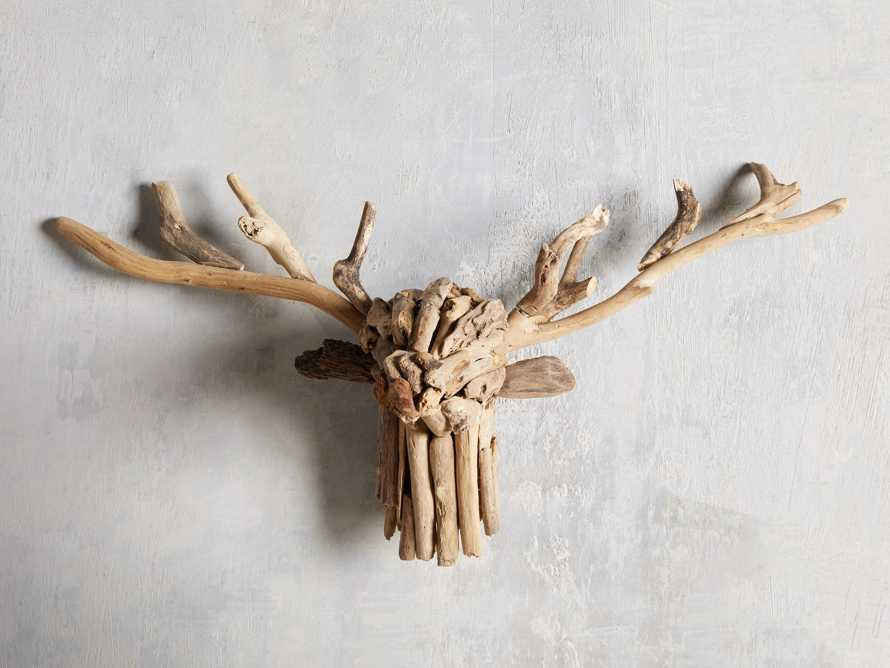 Large Reclaimed Driftwood Stag Head, slide 1 of 3