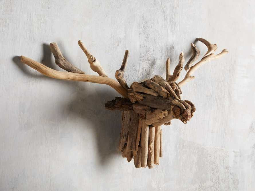 Large Reclaimed Driftwood Stag Head, slide 2 of 3