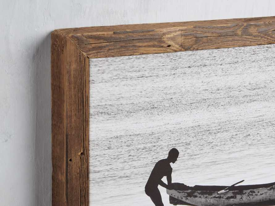 Boat Shore Framed Canvas Print, slide 2 of 4