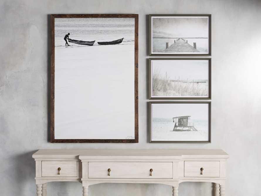 Boat Shore Framed Canvas Print, slide 3 of 4
