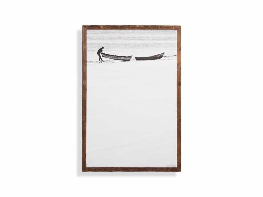 Boat Shore Framed Canvas Print, slide 4 of 4