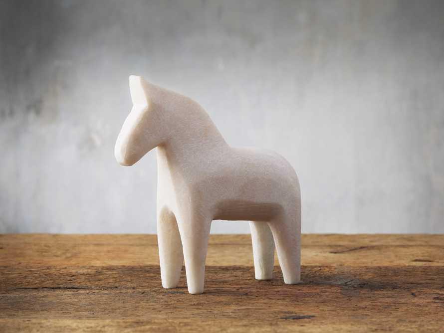 Marble Dala Horse, slide 1 of 2