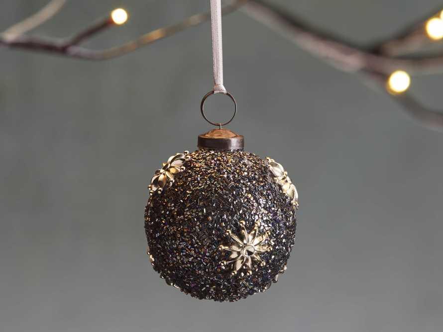 Metallic Beaded Star Ornament (Set of 6), slide 1 of 1