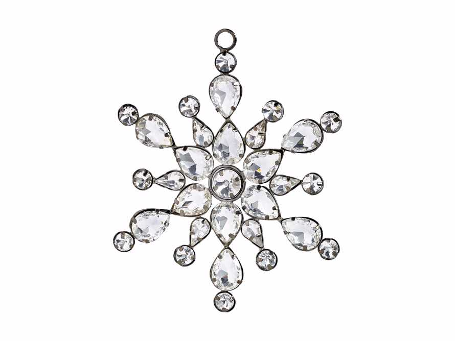Large Rhinestone Snowflake Ornament (Set of 4), slide 4 of 4