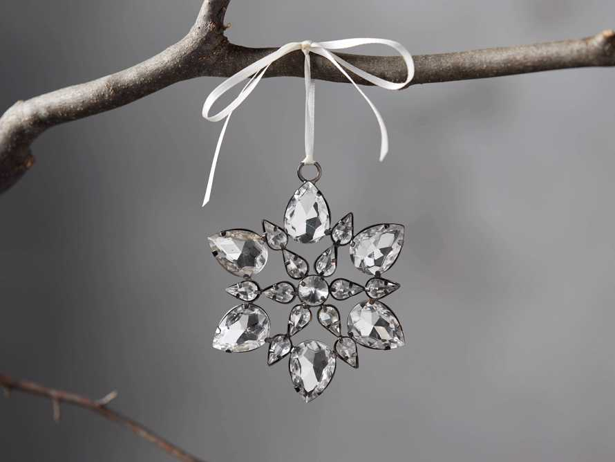 Small Rhinestone Snowflake Ornament (Set of 4), slide 1 of 4