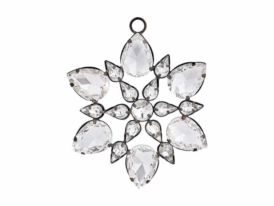 Small Rhinestone Snowflake Ornament (Set of 4), slide 4 of 4
