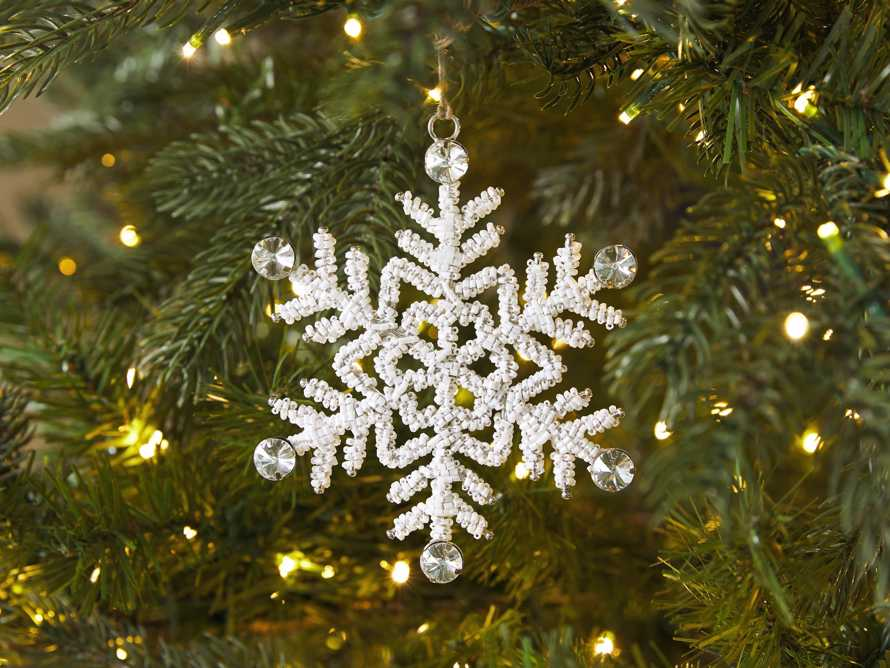 Small Beaded Snowflake Ornament (Set of 4), slide 2 of 5