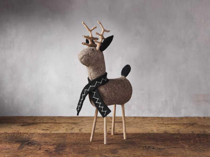 Charcoal Tabletop Reindeer, slide 1 of 2