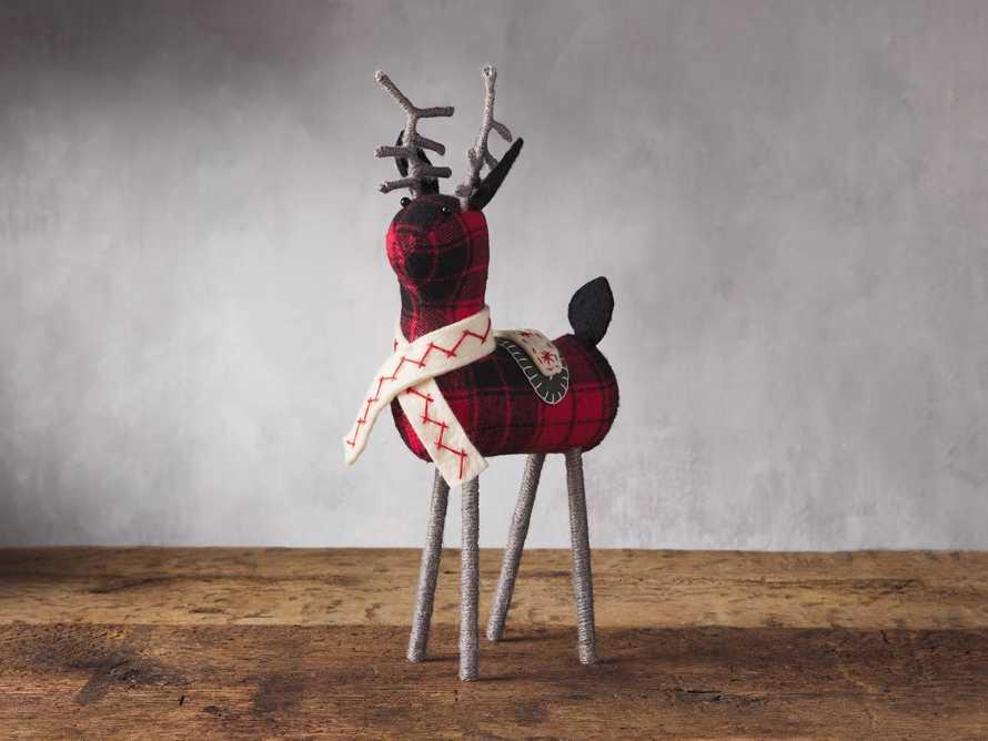 Tartan Tabletop Reindeer, slide 1 of 2