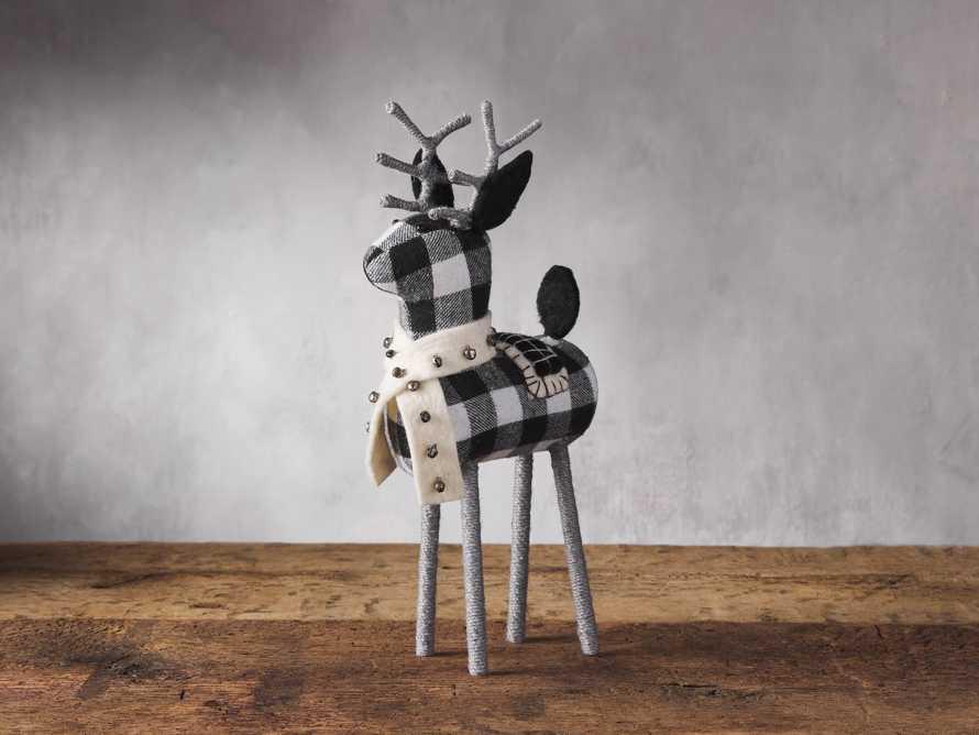 Check Tabletop Reindeer, slide 1 of 2