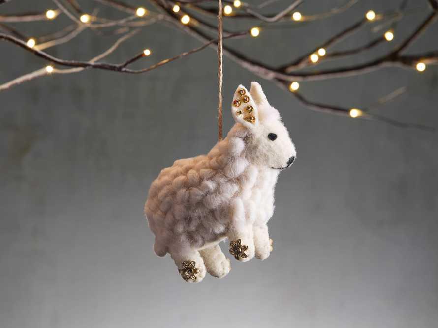 Ivory Wool Sheep Ornament (Set of 6), slide 1 of 2