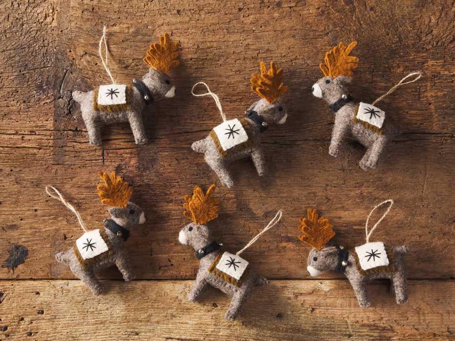 Wool Reindeer Ornament (Set of 6), slide 2 of 2