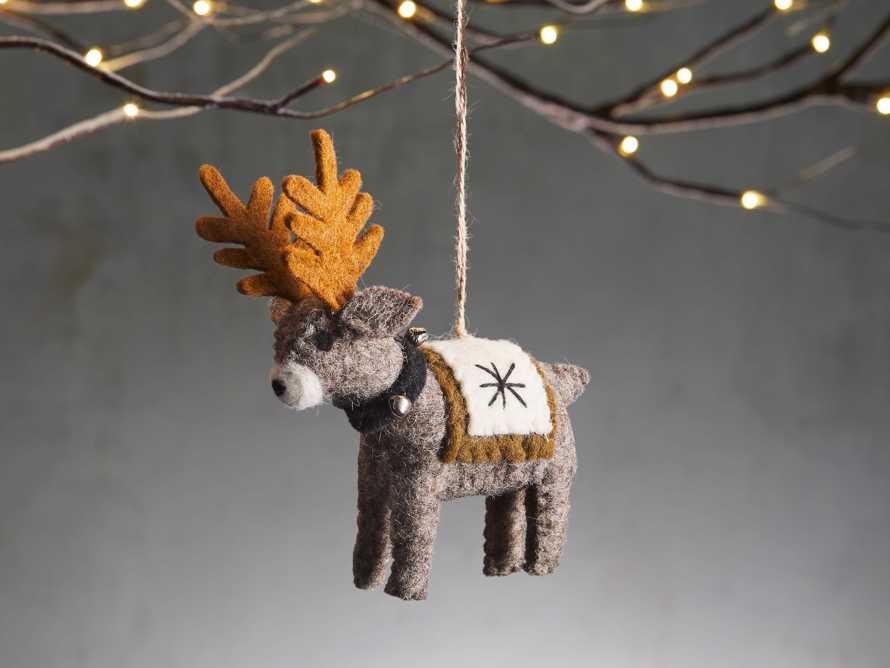 Wool Reindeer Ornament (Set of 6), slide 1 of 2