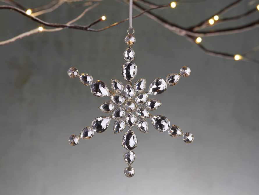 Large Rhinestone Snowflake Ornaments (set of 4), slide 1 of 2