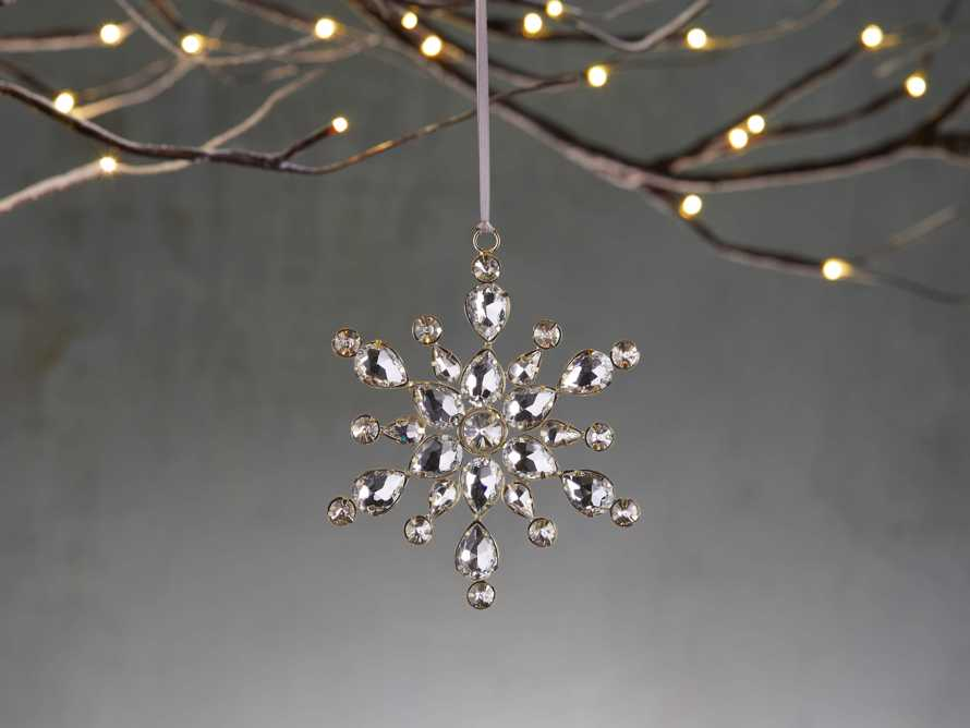 Medium Stellar Rhinestone Snowflake Ornaments (set of 4), slide 1 of 2