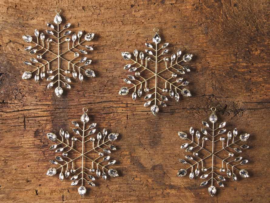 Brass Snowflake Ornament (Set of 4), slide 2 of 2