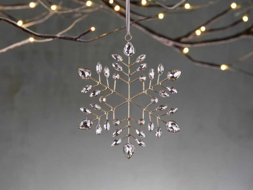 Brass Snowflake Ornament (Set of 4), slide 1 of 2