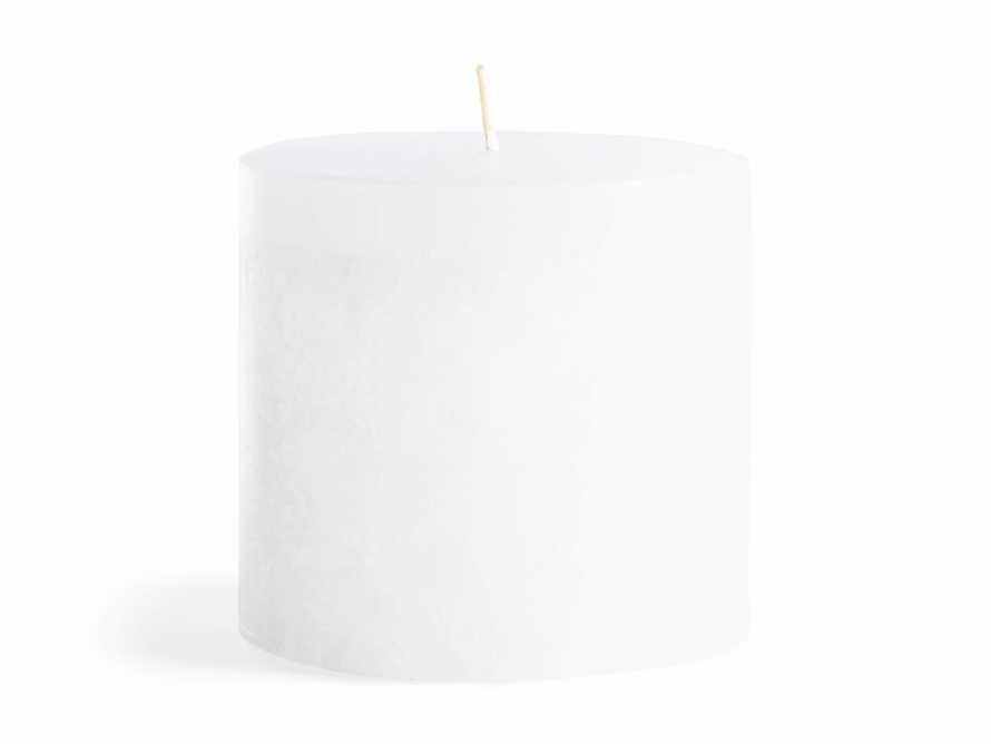 """Rustic Pillar in White 3"""", slide 5 of 5"""