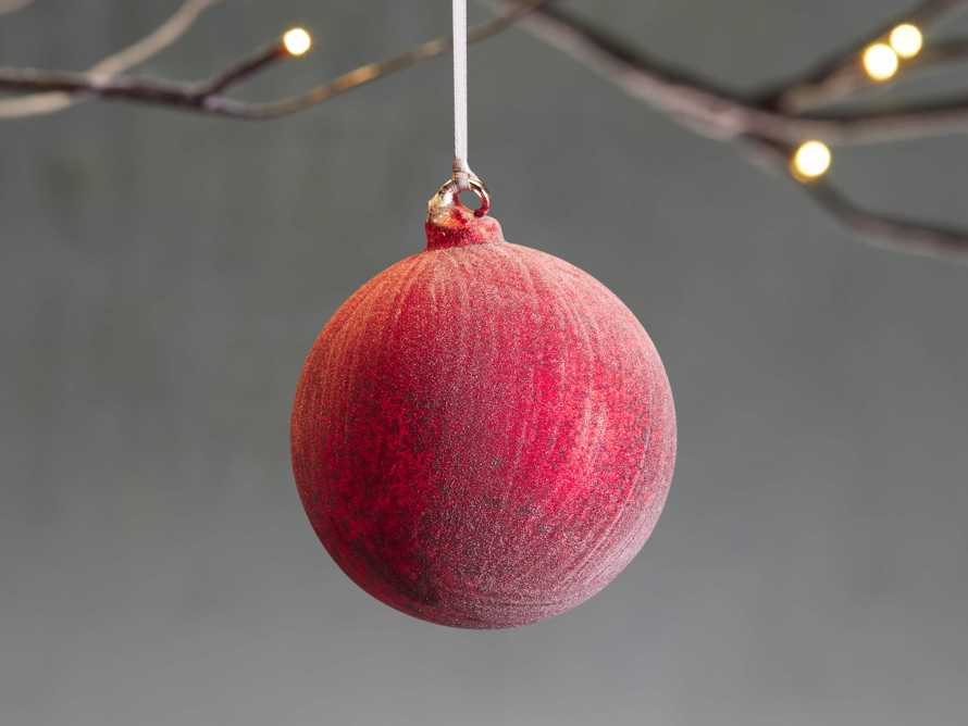 Red Distressed Ornament (Set of 4), slide 1 of 2
