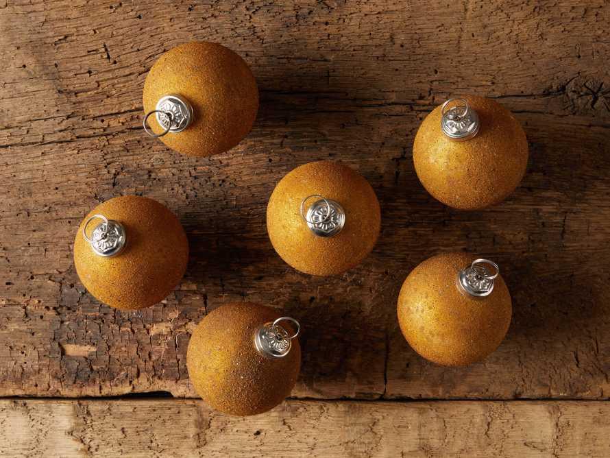 Amber Sugared Ornament (Set of 6), slide 2 of 2