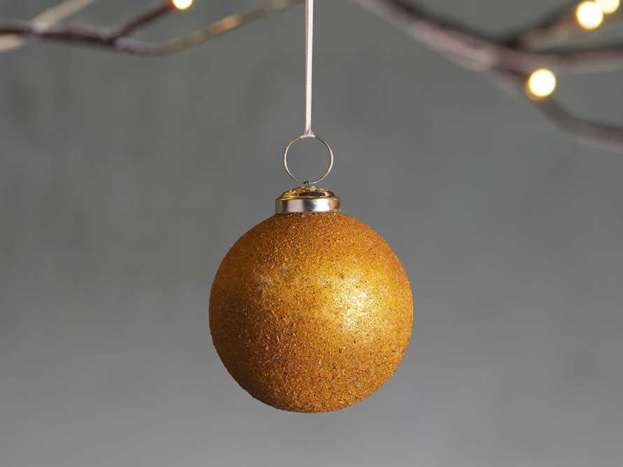 Amber Sugared Ornament (Set of 6), slide 1 of 2