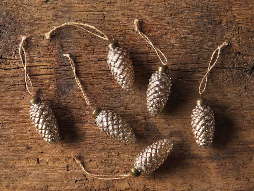 Pinecone Ornament (Set of 6), slide 2 of 3