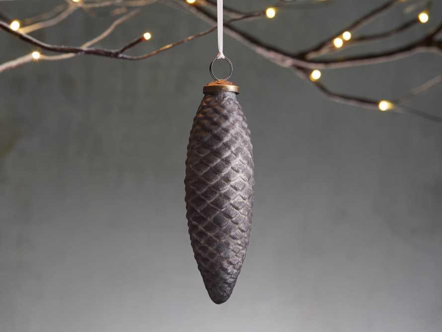 Black Glass Fir Pinecone Ornament (Set of 6), slide 1 of 2