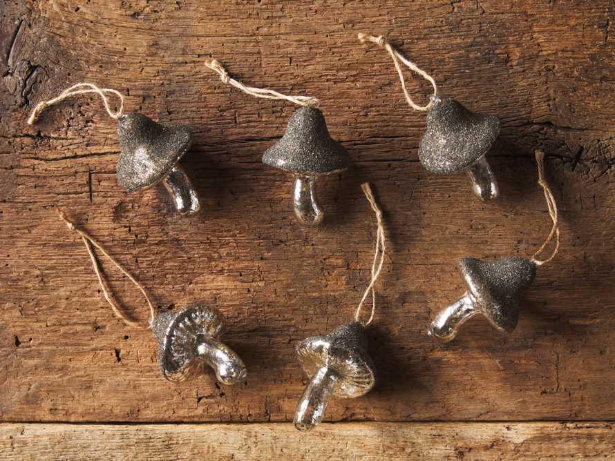Glass Mushroom Ornament (Set of 6), slide 2 of 2